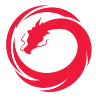 Thumb vault dragon logo
