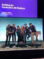 2018年5月以技術合作夥伴身分受邀出席F8大會, 分享濾鏡製作心得